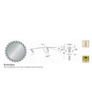 Rvs hm cirkelzaagblad spijkervast d=400x30mm