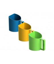 Meelschep-/ voerschep 1kg (bekermodel) - geel