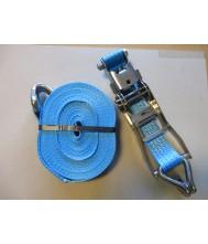 Spanband rvs incl ratel 14.00 mtr 4000 kg blauw sleufsilo Spanbanden & bevestiging