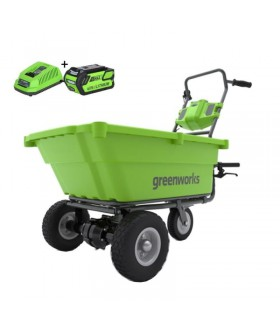 Greenworks accu kruiwagen 40v met 4.0ah accu en lader Kruiwagen