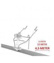 Lumag trilbalk 250cm Beton-trilbalk