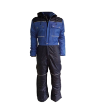 Doorwerk-/ winteroverall marine/korenblauw -64 Doorwerkkleding