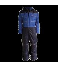 Doorwerk-/ winteroverall marine/korenblauw -46