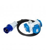 Fluxon Verlengkabel 1m 3G 2.5mm2 met stekker en verdeeldoos Verlengkabels