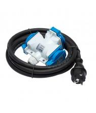 Fluxon Verlengkabel 1m 3G 2.5mm2 met verdeeldoos Verlengkabels