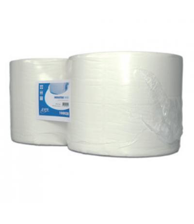 Europroducts industrie papier wit 2x 380 m 24 cm Papier & dispencers