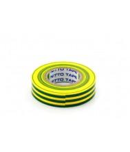 Nitto Tape Geel/Groen 10m 15mm Per rol Tape & isolatie