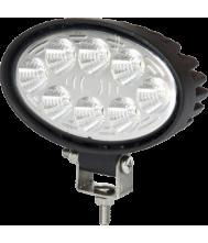 KSG LED werklamp ovaal 24W 9-32v 2000 Lumen Werklampen 12V/24V