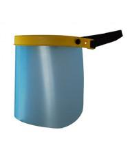 Verstelbaar vizier met polycarbonaat spatscherm