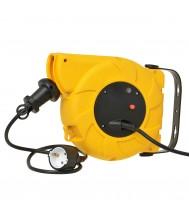 Trekveerhaspel 11+2meter 3X1,5mm Neopreen geel BV Extend Kabelhaspels