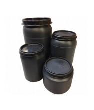 Voerton -MM- met schroefdeksel 32 liter Voertonnen