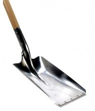 Aluminium ballastschop met slijtstrip los, Talen Tools Tuingereedschap