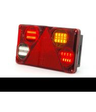 ACHTERLICHT RECHTH. MET DRIEHOEK LED 12/24V RECHTS Aanhanger verlichting LED