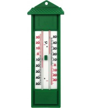 Thermometer min/max, groen kunststof Thermometers