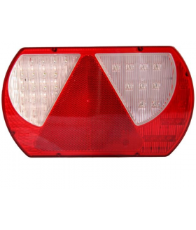 KSG Achterlicht rechts LED met driehoek237x140mm 2 mtr.kabel