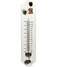 Thermometer 30cm metaal wit Thermometers