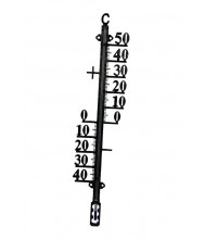 Buitenthermometer 38cm metaal zwart Thermometers