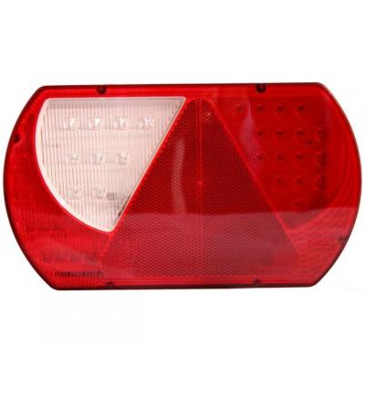 KSG Achterlicht links LED met driehoek237x140mm 2mtr.kabel Aanhanger verlichting LED
