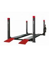 Cascos Vier koloms hefbrug 4000kg 4,8m uitlijn 3m doorrijbreedte Casco Hefbrug / Motorfietslift