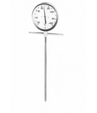 AARDAPPELKUIL STEEKTHERMOMETER -10/+60 GR. 1.00M