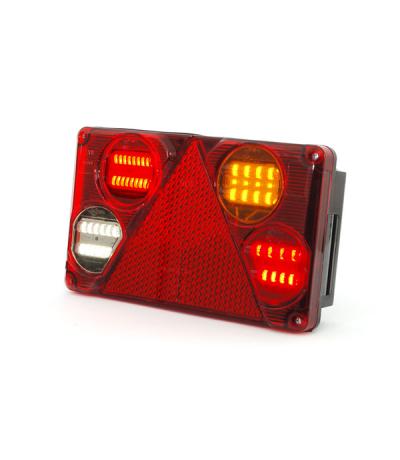 Was led achterlicht rechthoek 12-24v rechts + kentekenverlichting Aanhanger verlichting LED