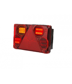 Was led achterlicht rechthoek 12-24v links + kentekenverlichting Aanhanger verlichting LED