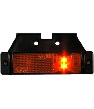 Led zijmarkering met steun 12/24v oranje Aanhanger verlichting LED