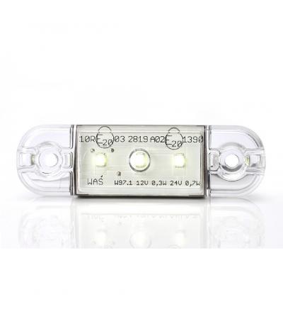 Ksg led zij/toplamp wit 12/24watt 3 leds Aanhanger verlichting LED