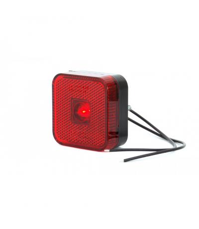 Toplamp led rood 12-24v 65x65x28