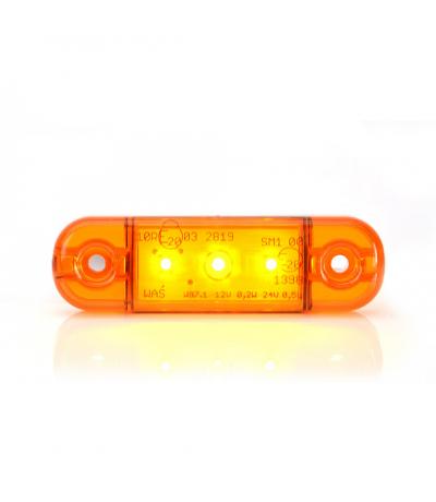 Ksg led zij/toplamp oranje 12/24watt 3 leds Aanhanger verlichting LED