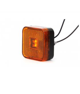 Toplamp led oranje 12-24v 65x65x28