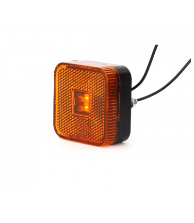 Toplamp led oranje 12-24v 65x65x28