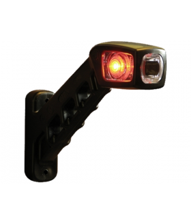 Rubber zijlamp led 3 lamp rechts16,5cm.12-24v Aanhanger verlichting LED