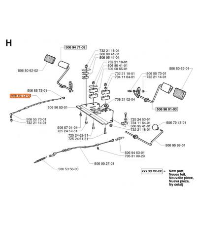 Husqvarna remkabel Rider 11 13 15 bio 506 99 27-01 Onderdelen Husqvarna