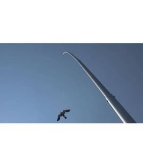 Reserve paal voor vlieger aluminium 13m. Vogelverschrikker