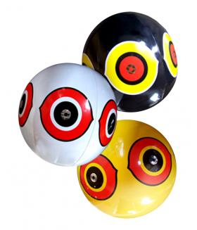 Scare eye ballon (wit/geel/zwart) per stuk Vogelverschrikker