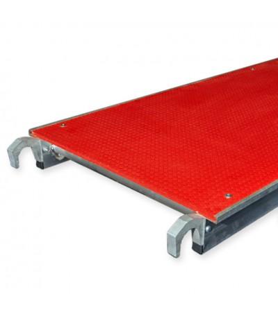 Alu-top platform fiber 2.50m zonder luik