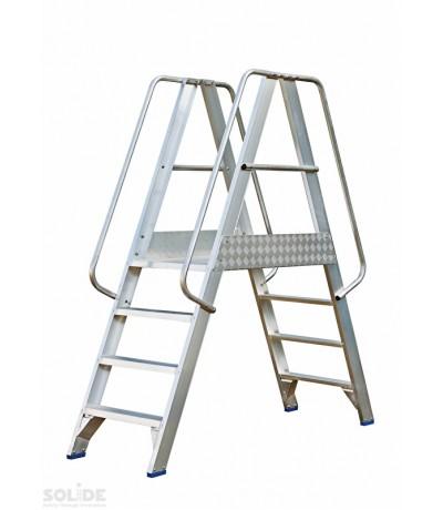 Solide platform 2 x 4 treden met dubbele toegang Platformen