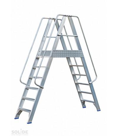Solide platform 2 x 6 treden met dubbele toegang Platformen