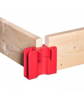 Alu-top set houten kantplanken 1.90 x 1.35m Steigers en toebehoren