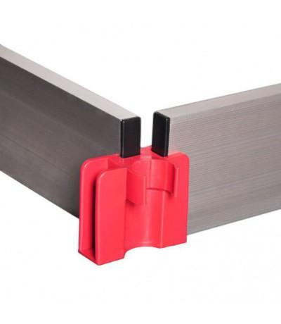 Alu-top set aluminium kantplanken 1.90 x 1.35m