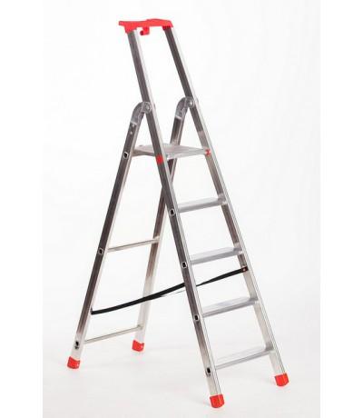 Alutop huishoud trap 1x5 treden
