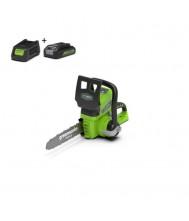 Greenworks Accu Kettingzaag 24V incl Accu 2.0 aH en lader