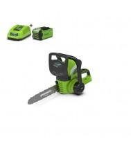 Greenworks accu kettingzaag 40v met 2.0ah accu en lader Kettingzaag