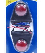 Markeringslamp mini 2 stuks rood/wit
