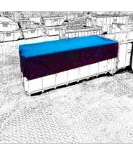 Dekkleed cargotarp 3,5x6 mtr 570gr alle kleuren