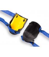 Kniebeschermer nierhaus harmonica lang, type 13-ve. rubber met geel er