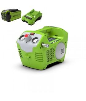 GREENWORKS ACCU COMPRESSOR 40V INCLUSIEF 2.0 ACCU MET LADER Compressor