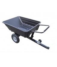 Aanhangwagen met kipbak in kunststof 250 KG