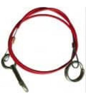 Breekkabel+ring rood/zwart 1 meter. voor oplooprem Koppeling aanhanger